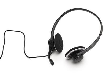 servile: headset on a white background Stock Photo