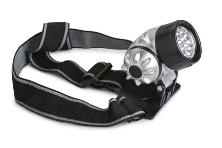 Super bright LED HeadLamp isolated on white background photo