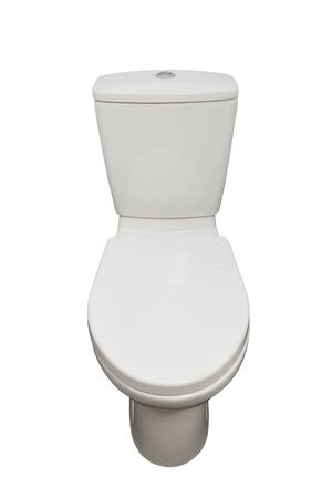 Home flush toilet isolated photo