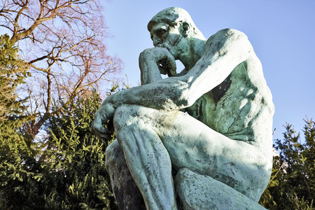 The Thinker Statue by the French Sculptor Rodin Stock Photo
