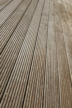 perpendicular: Terrace brown wood floor background