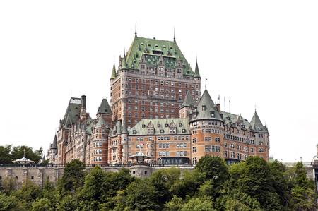 Québec, Kanada - 21. August: Hotel Chateau Frontenac am 21. August 2010 in Quebec City, Kanada. Die erste Version dieses Schloss wie Hotel wurde von Bruce Price entworfen und im Jahr 1893 eröffnet, um der Öffentlichkeit Editorial