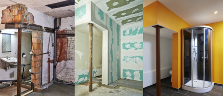 house ware: renovation and construction of Drywall-Plasterboard in a bathroom