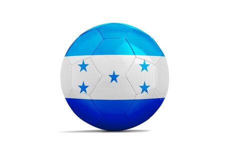 bandera honduras: Bal�n de f�tbol con la bandera de Honduras