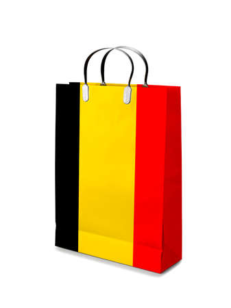 retail business: Shopping bag with Belgium flag. Retail business  Stock Photo