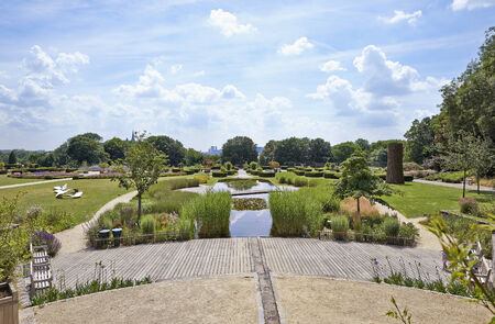 sobieski: BRUSSELS-JUNE 24, 201. Public garden called les jardins du fleuriste or Stuyvenberg near Laeken park in Brussels, Belgium on June 24, 2014