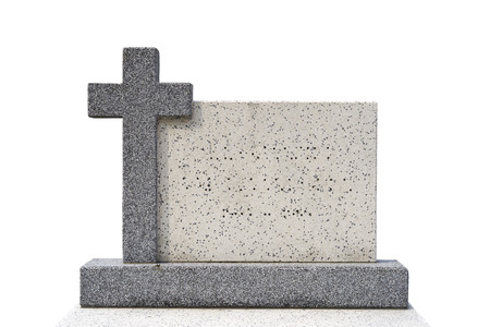 single grave stone cut out  Standard-Bild