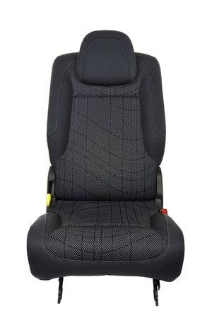 Autositz isoliert auf weißem Hintergrund - Vorderansicht
