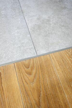 hardwood floor: Marble and hardwood floor