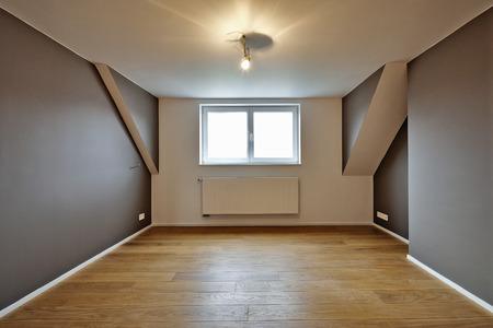 Home interior with beautiful warm wood floors - light on photo