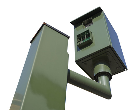 Speed camera control isolated with clipping path photo