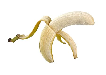 pitfall: Banana Peel isolated on white with clipping path
