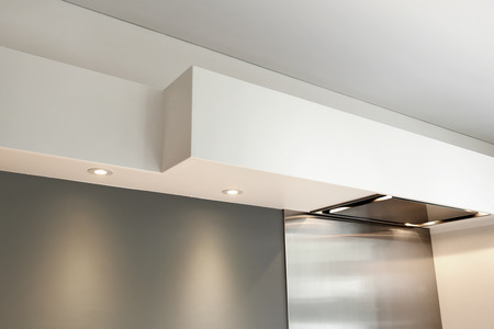 household fixture: Detail of a vaulted ceiling without joints in a kitchen room