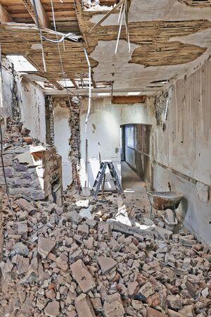 abandoned room: Abandoned room under demolition before renovation
