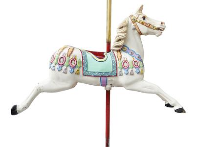 古典的なカルーセル馬。クリッピング パスを含めます。 写真素材