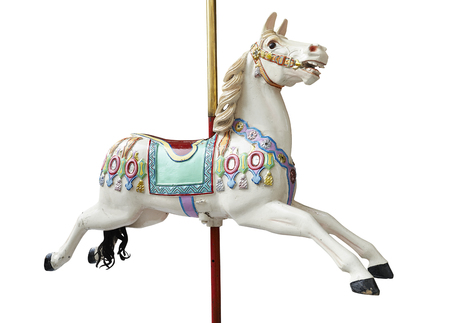 carousel horse: A classic carousel horse on white. Clipping path included.