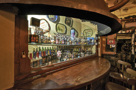 delirium: BRUSSELS, BELGIUM - OCTOBER 05, 2015:  Delirium Cafe known for its long beer list, standing at 2.004 different brands in January 2004 as recorded in the The Guinness Book of Records. Editorial