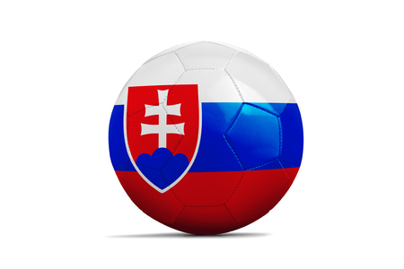 group b: Soccer balls with team flags, Football Euro 2016. Group B, slovakia - clipping path