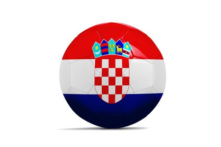 qualify: Soccer balls with team flags, Football Euro 2016. Group D, Croatia - clipping path Stock Photo