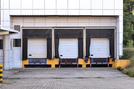 loading dock: Empty loading dock abandoned Stock Photo
