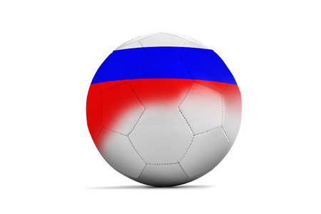 b ball: Soccer balls with team flags, Football Euro 2016. Group B, Russia Stock Photo
