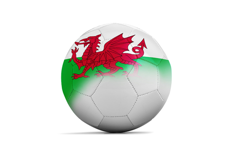 group b: Soccer balls with team flags, Football Euro 2016. Group B, Wales Stock Photo