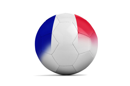Soccer balls with team flags, Football Euro 2016. Group A, France Stock Photo