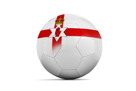 1 euro: Soccer balls with team flags, Football Euro 2016. Group C, North Ireland