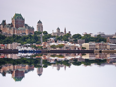 Chateau Frontenac Hotel on August 21, 2010 in Quebec City, Canada. The first version of this castle like hotel was designed by Bruce Price and opened to public in 1893