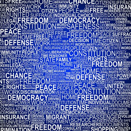 liberties: Background concept wordcloud illustration of human rights on gradient background