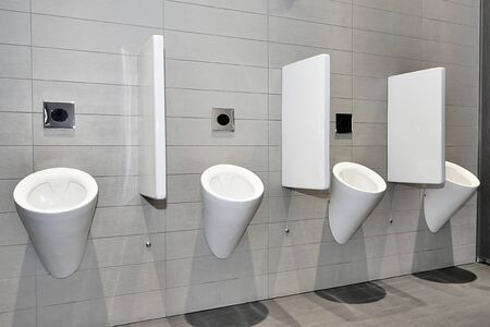 no pase: Vista din�mica de un lavabo independiente p�blica moderna
