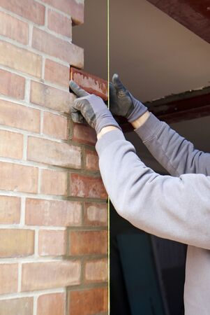 Construction Industry, Bricklayer at work