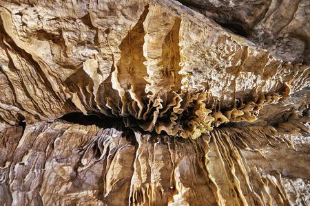 caving: Stalagmites, Columns and Draperies in Han-sur-Lesse Caverns, Belgium