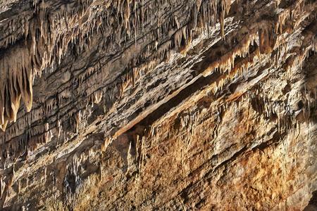 stalagmites: Stalagmites, Columns and Draperies in Han-sur-Lesse Caverns, Belgium