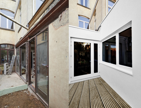 Two steps of Renovation an extension in home