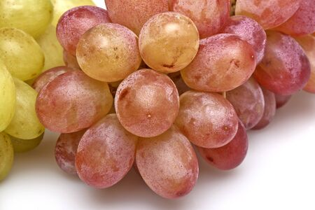 fungicide: Close up on Two sorts of grapes on table Stock Photo