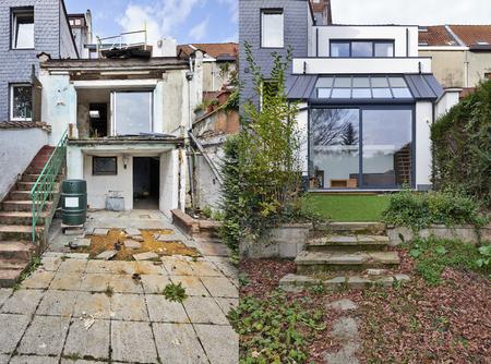 Costruzione di una nuova parte dalla vecchia casa, prima e dopo