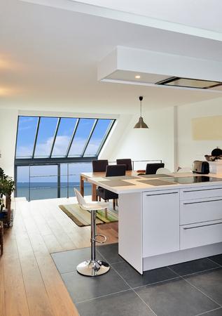 Dessin De Rénovation D\'une Cuisine Ouverte Moderne Dans Maison ...