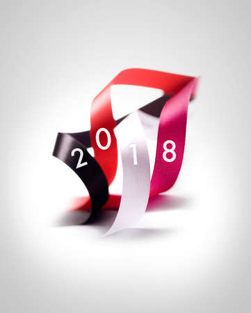 Greeting Card - Happy New Year 2018 Lizenzfreie Bilder