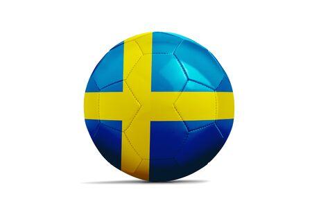 Soccer ball isolated with team flag Sweden Standard-Bild
