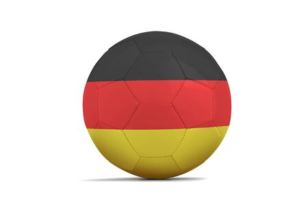 Soccer ball isolated with team flag, Russia 2018. Germany