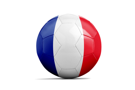 Ballon de foot isolé avec drapeau de l'équipe, France Banque d'images - 90320911