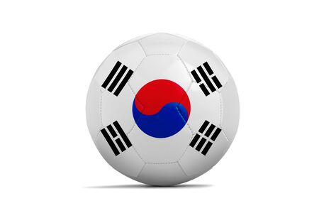 Soccer ball isolated with team flag, Russia 2018. Korea Republic