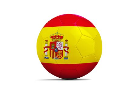 Soccer ball isolated with team flag, Russia 2018. Spain