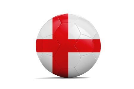 Soccer ball isolated with team flag, Russia 2018. England