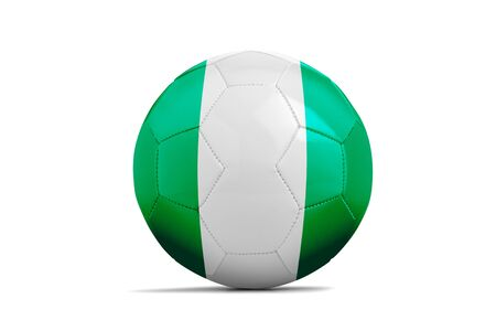 Soccer ball isolated with team flag, Nigeria