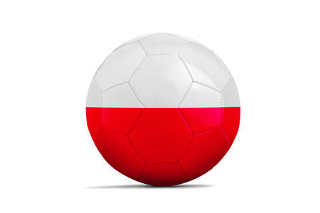 Soccer ball isolated with team flag, Russia 2018. Poland