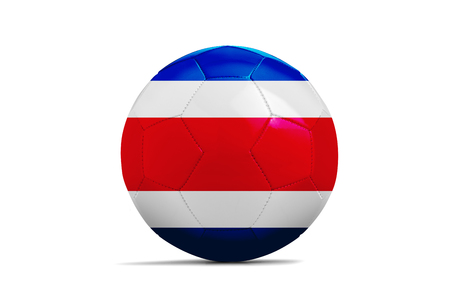 Soccer ball isolated with team flag, Russia 2018. Costa Rica