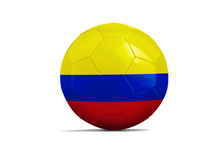 Soccer ball isolated with team flag, Colombia