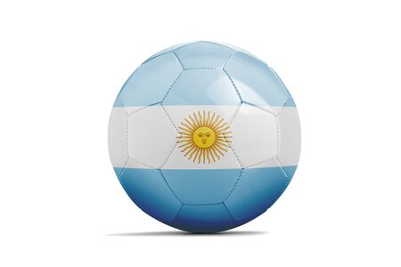 Soccer ball isolated with team flag, Russia 2018. Argentina